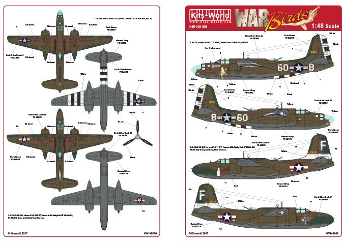 Kits-World 1/48 A-20G Douglas Havoc # 48166