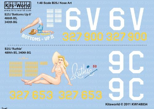 Kits-World 1/48 B-25J MItchell Nose Art # 48034