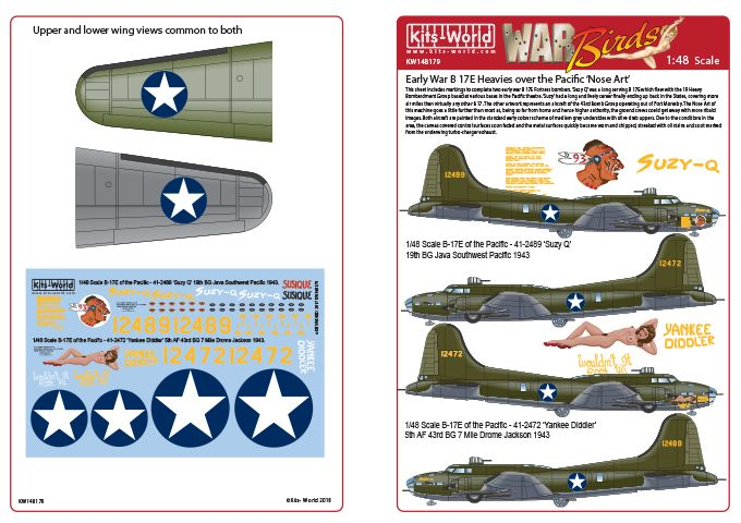 Kits-World 1/48 Boeing B-17E Flying Fortress of the Pacific # 48179