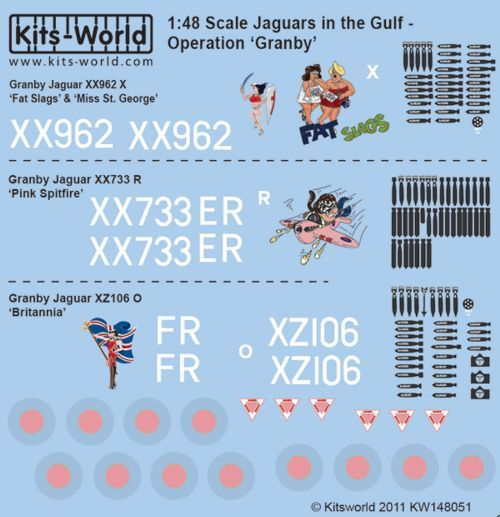 Kits-World 1/48 Jaguars in the Gulf Operation Granby # 48051
