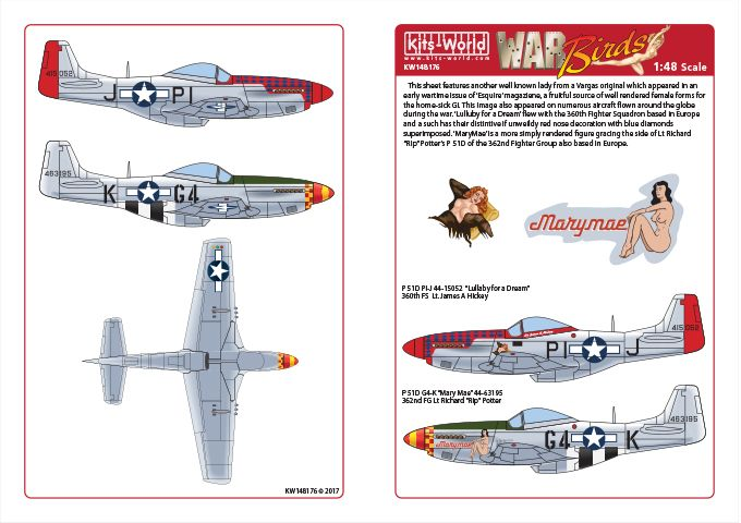 Kits-World 1/48 P-51D Mustang - 'Lullaby for a Dream - MaryMae' # 48176
