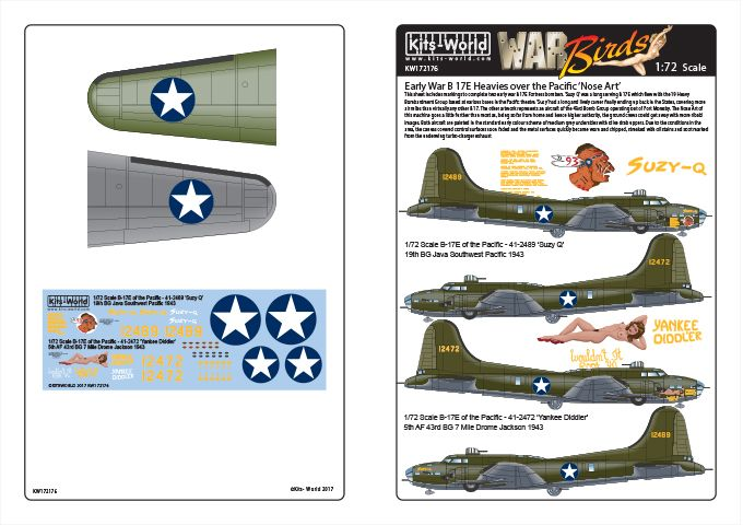 Kits-World 1/72 Boeing B-17E Flying Fortress of the Pacific # 72176