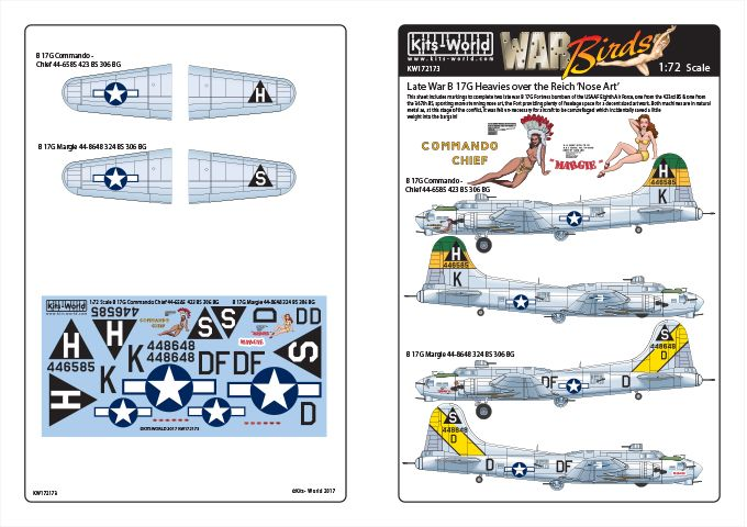 Kits-World 1/72 Boeing B-17G Flying Fortress # 72173
