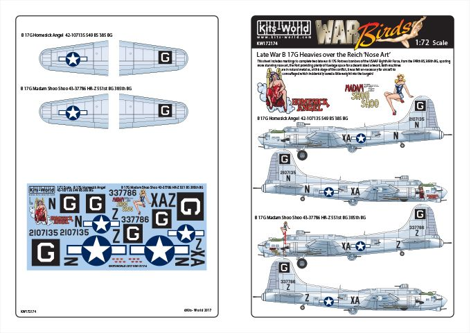 Kits-World 1/72 Boeing B-17G Flying Fortress # 72174