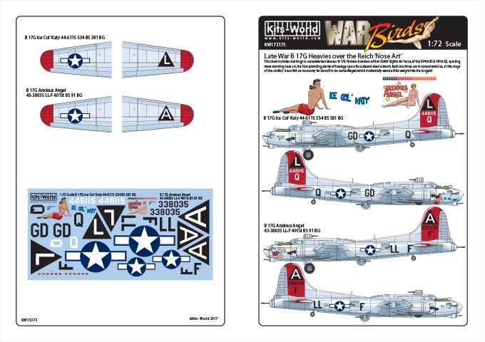 Kits-World 1/72 Boeing B-17G Flying Fortress # 72175