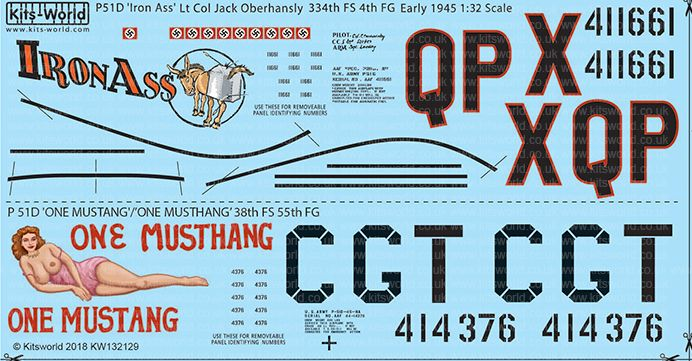 Kits-World Decals 1/32 North-American P-51D Mustang # 32129