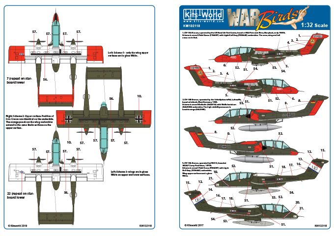 Kits-World Decals 1/32 North-American/Rockwell OV-10A Bronco # 32118