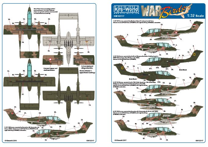 Kits-World Decals 1/32 North-American/Rockwell OV-10F Bronco # 32117