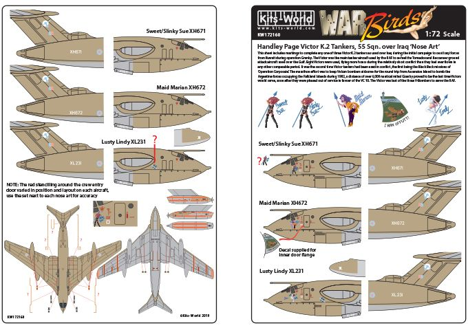 Kits-World Decals 1/72 Handley-Page Victors Over the Gulf Set 1 # 72160