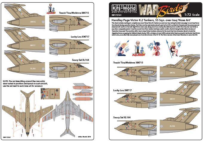Kits-World Decals 1/72 Handley-Page Victors Over the Gulf Set 2 # 72161