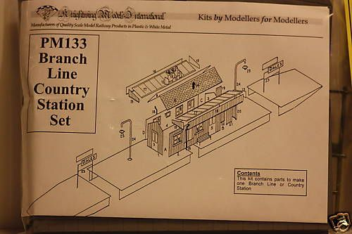 Knightwing 1/76 Branch Line Country Station Set # PM133