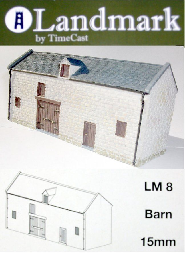 Landmark Miniatures 15mm Barn # LM8