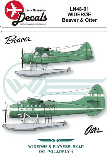 Lima November 1/48 DHC-2 Beaver and DHC-3 Otter Wideroe # 48001