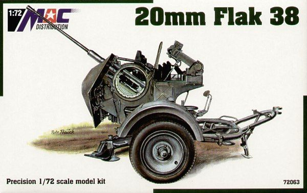 Mac Distribution 1/72 20mm Flak 38 # 72063