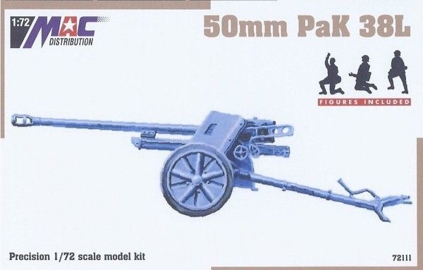 Mac Distribution 1/72 50mm PAK 38L # 72111