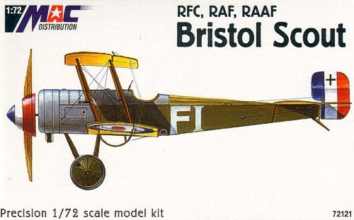 Mac Distribution 1/72 Bristol Scout RFC, RAF, RAAF # 72121