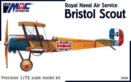 Mac Distribution 1/72 Bristol Scout Royal Naval Air Service # 72