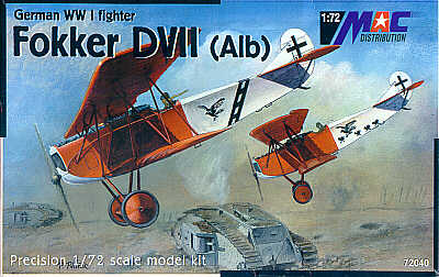 Mac Distribution 1/72 Fokker D.VII (Alb) # 72040