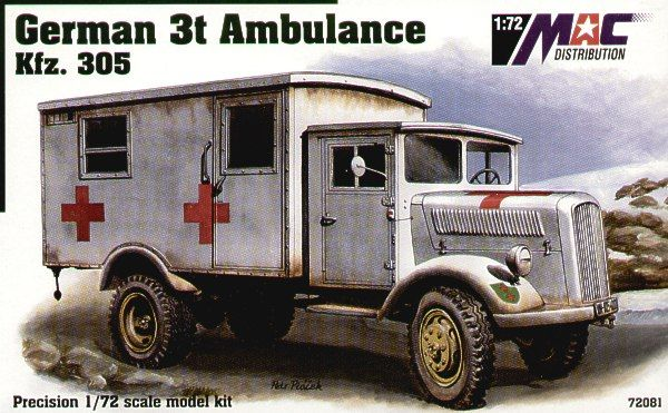 Mac Distribution 1/72 German 3t Ambulance Kfz 305 # 72081