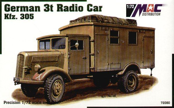 Mac Distribution 1/72 German 3t Radio Car # 72080