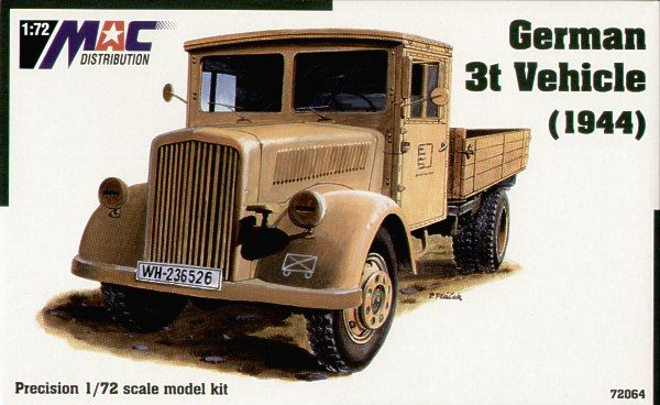 Mac Distribution 1/72 German 3t Vehicle (1944) # 72064