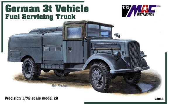 Mac Distribution 1/72 German 3t Vehicle Fuel Servicing Truck # 7