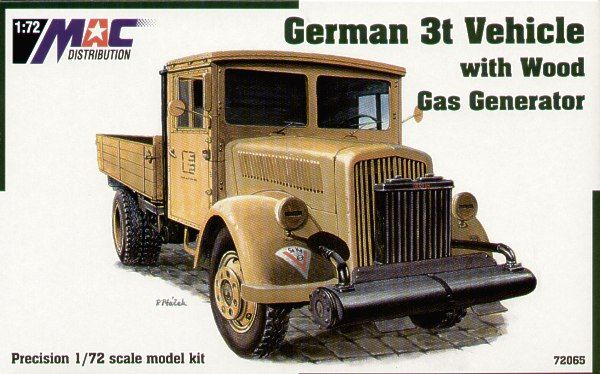 Mac Distribution 1/72 German 3t Vehicle with Wood Gas Generator