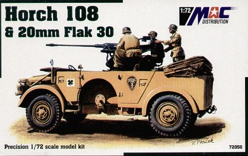 Mac Distribution 1/72 Horch 108 & 20mm Flak 30 # 72056
