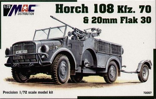 Mac Distribution 1/72 Horch 108 Kfz. 70 & 20mm Flak 30 # 72057