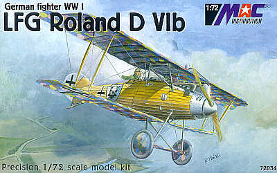 Mac Distribution 1/72 LFG Roland D.VIb WWI German Fighter # 72034