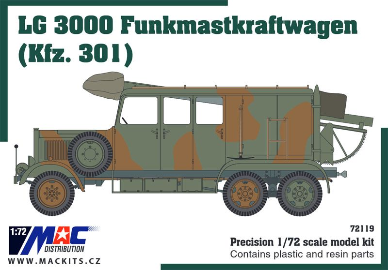 Mac Distribution 1/72 LG 3000 Funkmastkraftwagen (Kfz.301) # 721