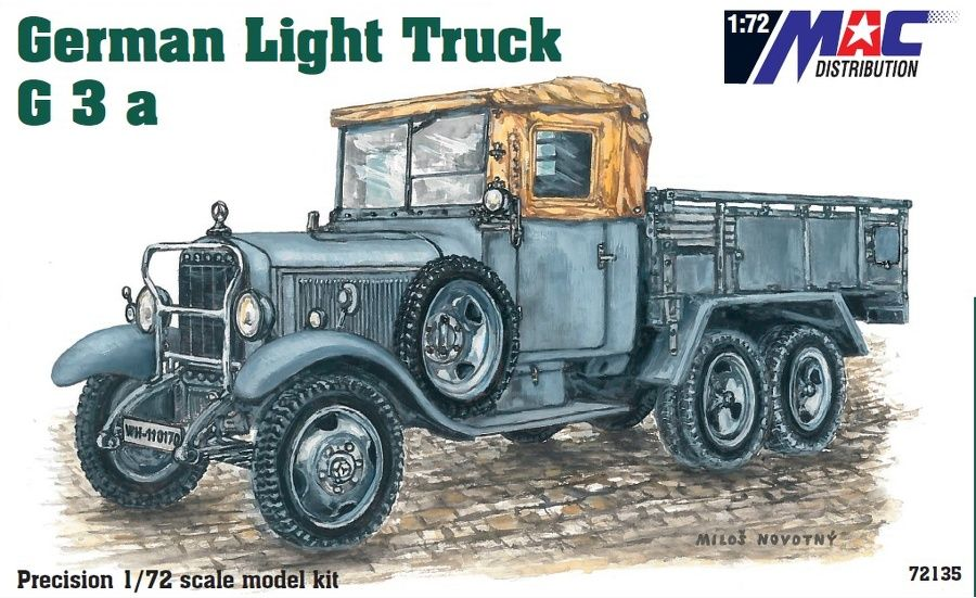 Mac Distribution 1/72 Mercedes-Benz G3a German Light Truck # 72135