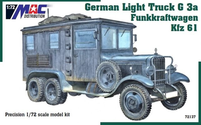 Mac Distribution 1/72 Mercedes-Benz G3a Kfz.61 Funkkraftwagen German Light Truck # 72137