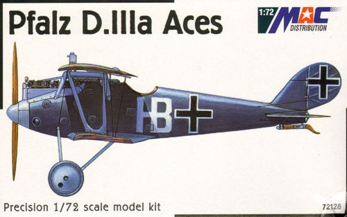 Mac Distribution 1/72 Pfalz D. IIIa Aces # 72128
