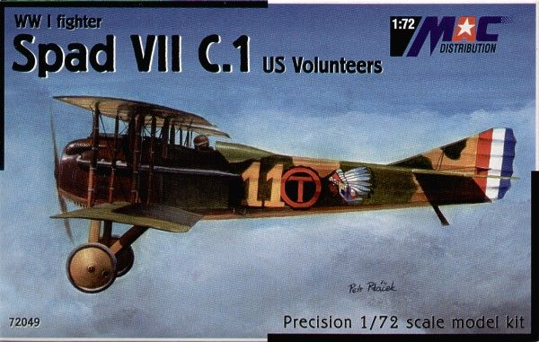 Mac Distribution 1/72 Spad VII C.1 US Volunteers # 72049