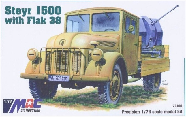 Mac Distribution 1/72 Steyr 1500 with Flak 38 1944 # 72106