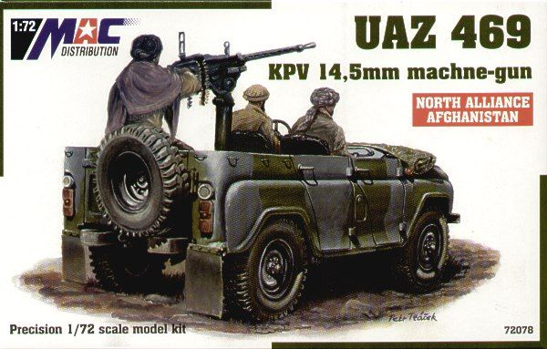 Mac Distribution 1/72 UAZ-469 w/KPV 14.5mm Machine Gun # 72078