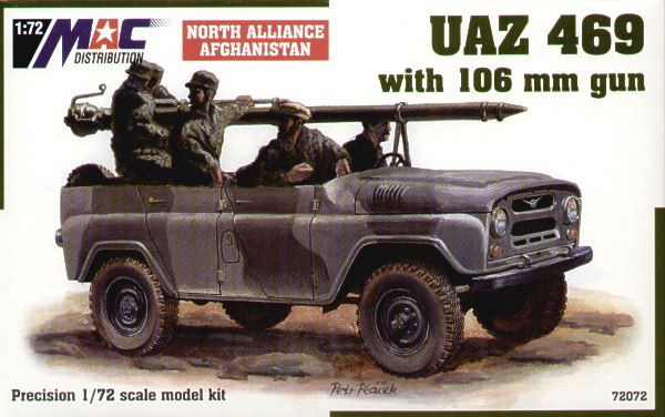 Mac Distribution 1/72 UAZ-469 with 106mm gun # 72072
