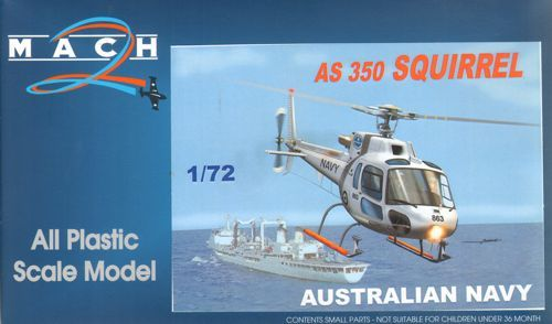 Mach 2 1/72 AS-350 Ecureuil Squirrel Australian Navy/Army # 7260