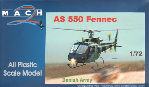 Mach 2 1/72 AS-550 Fennec Danish Army # 7261