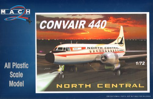 Mach 2 1/72 Convair 440 North Central # 7255