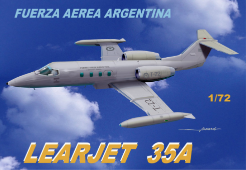 Mach 2 1/72 Gates Learjet 35A Argentina Air Force # GP084