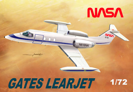 Mach 2 1/72 Gates Learjet 35A NASA # GP085