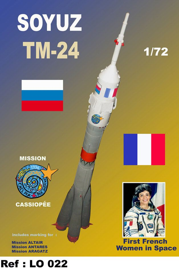Mach 2 1/72 Soyuz (France) TM-24 # L022