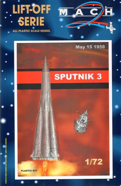 Mach 2 1/72 Sputnik 3 May 15 1958 Geophysical Research Satellite # L016