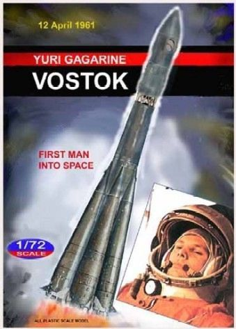 Mach 2 1/72 Vostok Yuri Gagarine - First Man into Space # L013