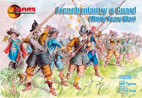 Mars 1/72 French Infantry and Guard Thirty Years War # 72039