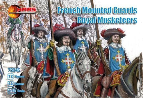 Mars 1/72 French Mounted Guards Royal Musketeers # 72045