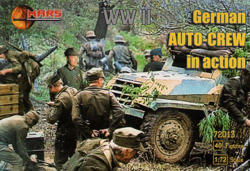 Mars 1/72 German WWII Auto-Crew in Action # 72013