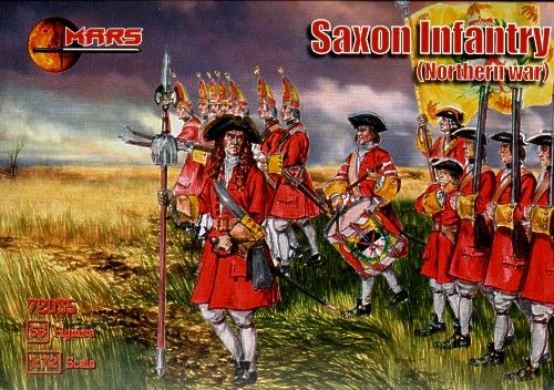 Mars 1/72 Northern War Saxon Infantry # 72035